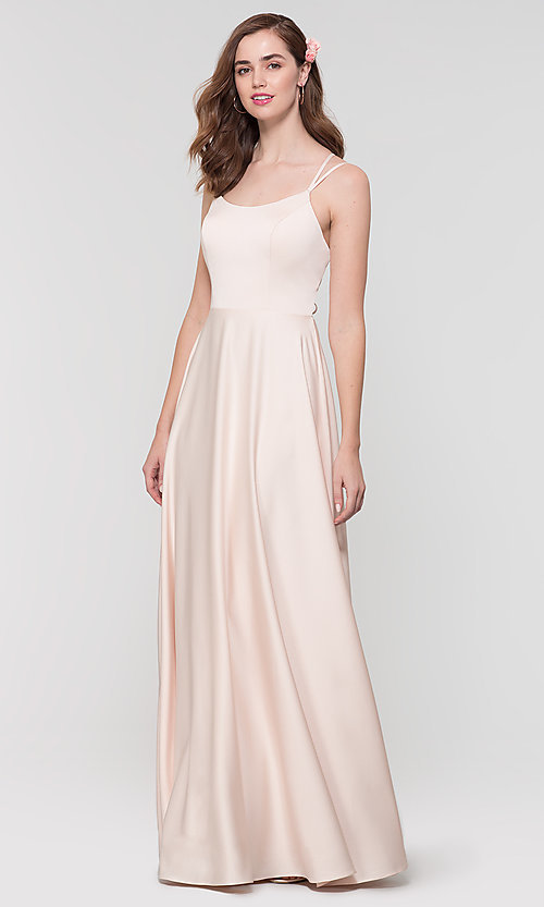 Image of Kleinfeld formal bridesmaid dress with corset back. Style: KL-200151 Detail Image 4