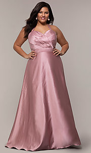 Image of plus-size strapless sweetheart prom dress by PromGirl. Style: SC-PL-PG-J Detail Image 3