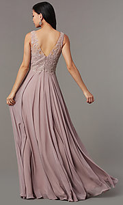 Image of long embellished-bodice prom dress by PromGirl. Style: FB-PL-GL9003 Back Image