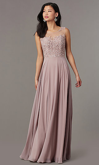 Long Corset Prom Dress by PromGirl
