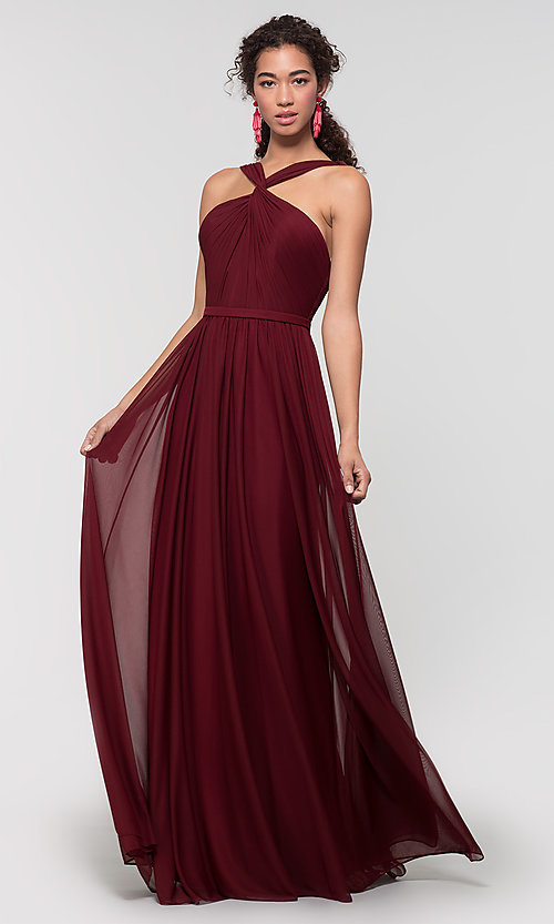 Image of Kleinfeld bridesmaid dress in stretch chiffon. Style: KL-200162 Detail Image 1