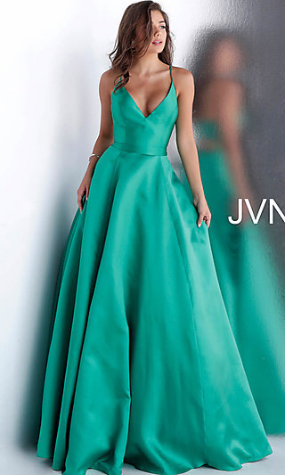 A-Line JVN by Jovani Designer Prom Dress