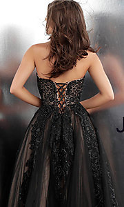 Image of embroidered ball-gown-style designer prom dress. Style: JO-JVN-JVN66970 Detail Image 2
