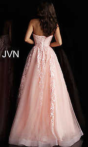 Image of embroidered ball-gown-style designer prom dress. Style: JO-JVN-JVN66970 Detail Image 4