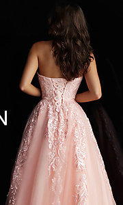 Image of embroidered ball-gown-style designer prom dress. Style: JO-JVN-JVN66970 Detail Image 6