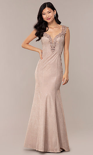 PromGirl - Nude Prom Dresses, Beige Party Dresses