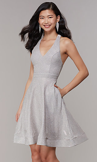 ever popular undefeated x fashionable and attractive package Silver Evening Gowns and Sequin Prom Dresses -PromGirl