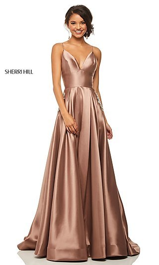 Brown Colored Prom Dress