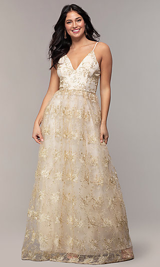 715c9c5e45c4 Gold Prom Dresses, Gold Formal Gowns - PromGirl