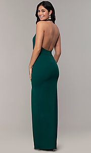 Image of high-neck halter long prom dress by Simply. Style: MCR-SD-3077 Detail Image 5