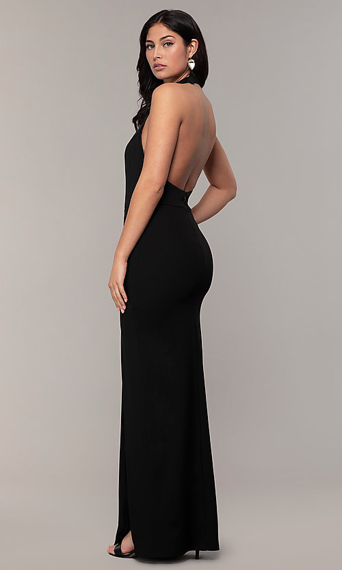 Image of high-neck halter long prom dress by Simply. Style: MCR-SD-3077 Front Image