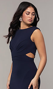 Image of bateau-neck long prom dress by Simply. Style: MCR-SD-3073 Detail Image 1