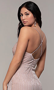 Image of long v-neck prom dress by Simply. Style: MCR-SD-2645 Detail Image 7