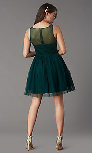 Image of short tulle a-line semi-formal party dress. Style: LP-25459 Detail Image 5