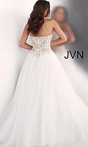 Image of long strapless ball-gown-style formal prom dress. Style: JO-JVN-JVN62012 Back Image