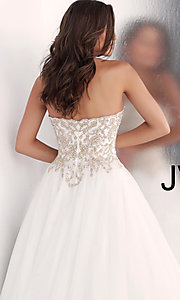 Image of long strapless ball-gown-style formal prom dress. Style: JO-JVN-JVN62012 Detail Image 2