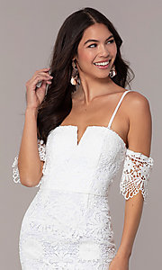 Image of short-sleeve graduation dress by Simply. Style: MT-SD-9575 Detail Image 1