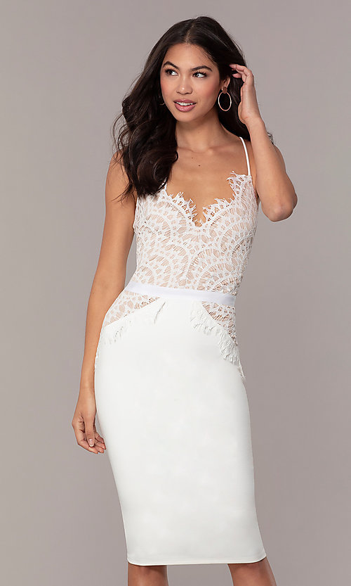 cecc2651ad3 Image of short lace-bodice graduation dress by Simply. Style  JTM-SD