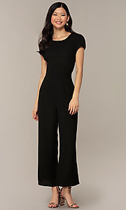 Image of wedding-guest short-sleeve party jumpsuit.  Style: VE-894-773514 Detail Image 4
