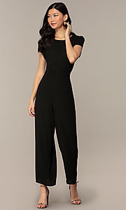 Image of wedding-guest short-sleeve party jumpsuit.  Style: VE-894-773514 Detail Image 8