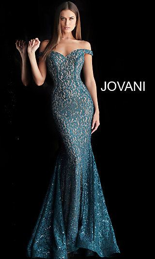 Long Beaded Lace Designer Prom Dress with a Train 4952e6195496