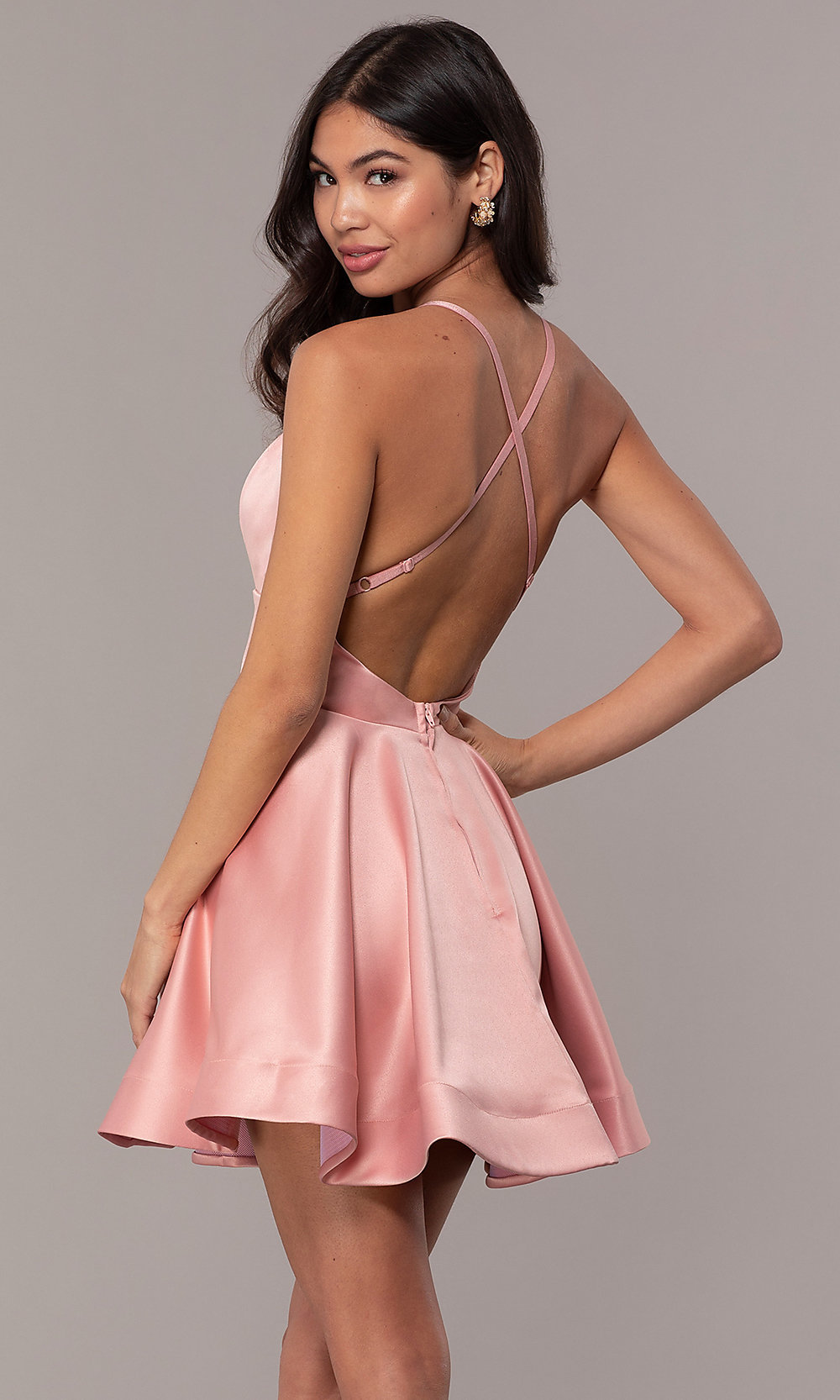 Fit And Flare Backless Cheap Graduation Dress Promgirl