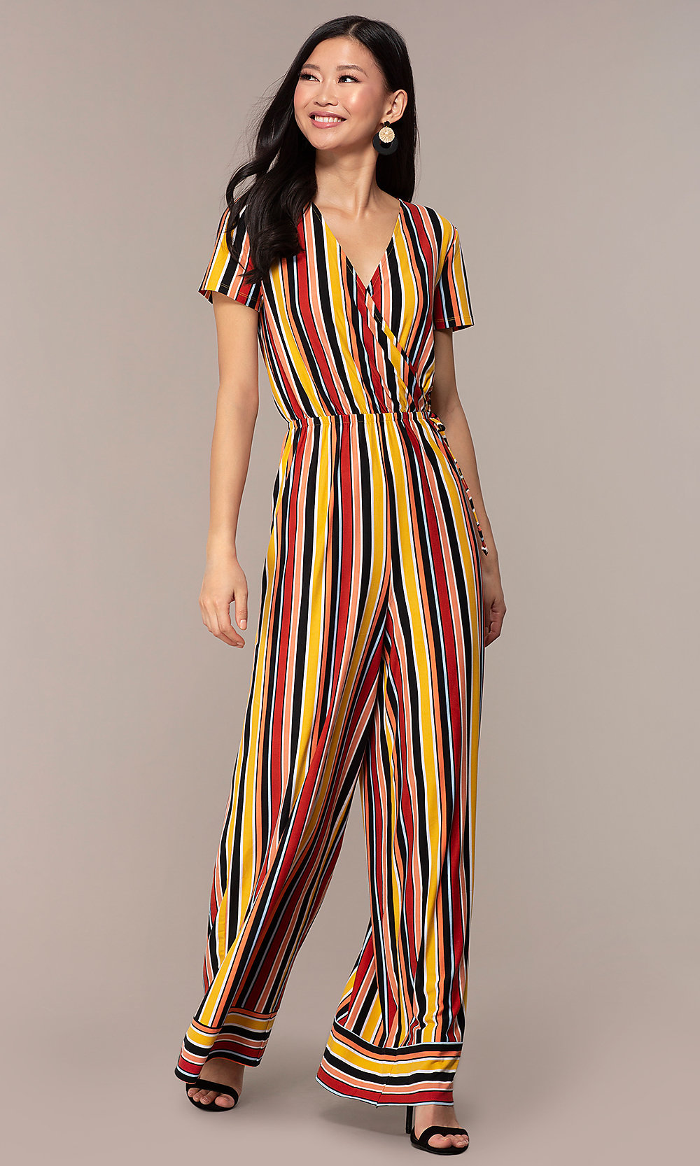 a057dec470f0 Multi-Colored Striped Jumpsuit for Parties