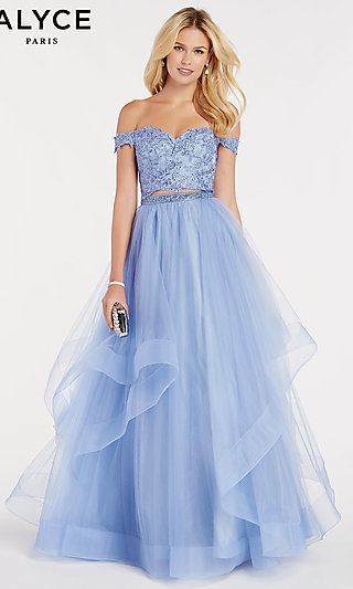 Ball Gown-Style Off-the-Shoulder Prom Dress