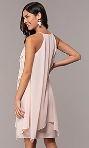 Image of knee-length wedding-guest shift dress by Simply. Style: MCR-SD-2818 Back Image