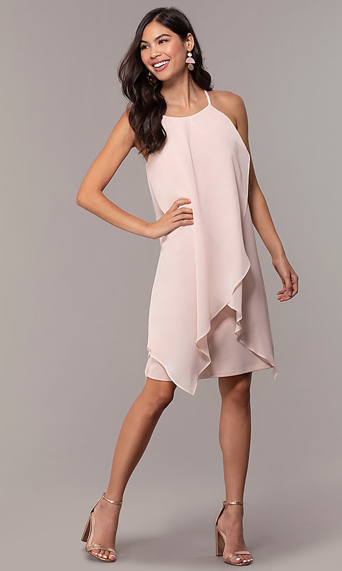 Image of knee-length wedding-guest shift dress by Simply. Style: MCR-SD-2818 Detail Image 3