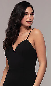 Image of sweetheart long black designer prom dress by Simply. Style: MCR-SD-2709 Detail Image 1