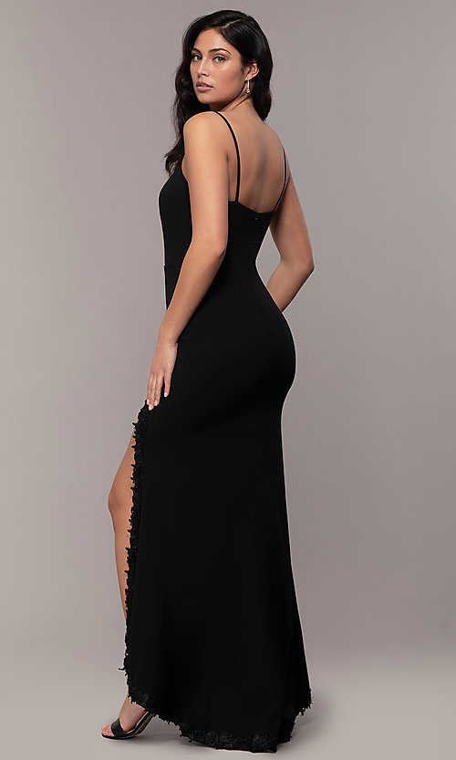 Image of sweetheart long black designer prom dress by Simply. Style: MCR-SD-2709 Back Image