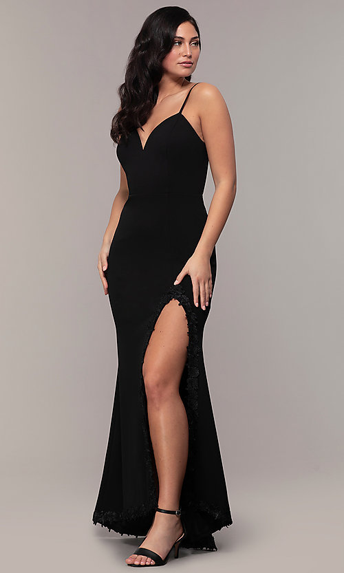 Image of sweetheart long black designer prom dress by Simply. Style: MCR-SD-2709 Detail Image 3