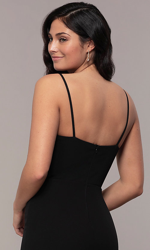 Image of sweetheart long black designer prom dress by Simply. Style: MCR-SD-2709 Detail Image 2