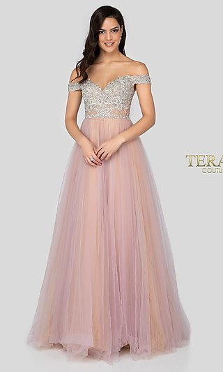Long Terani Ball Gown-Style Designer Prom Dress