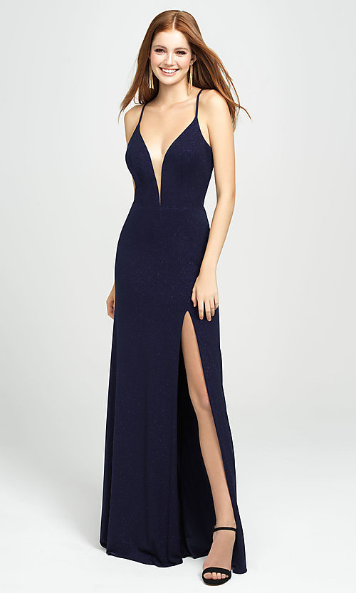 Image of long sparkly formal prom dress by Madison James. Style: NM-19-154 Detail Image 7