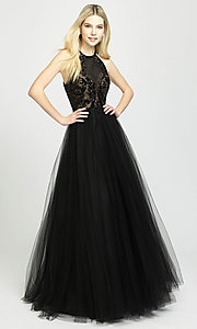 Image of ball-gown-style designer prom dress by Madison James. Style: NM-19-174 Front Image
