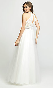 Image of ball-gown-style designer prom dress by Madison James. Style: NM-19-174 Back Image