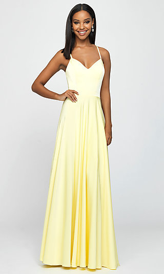 Classic Long Prom Dress with Spaghetti Straps