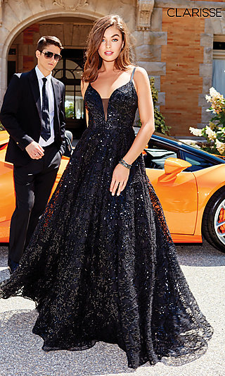 Black Ball Gown for Prom by Clarisse
