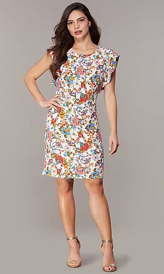 Short Floral Embroidered Party Dress