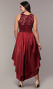 Image of high-low sequin-bodice plus-size prom dress by Simply. Style: MCR-SD-2853 Detail Image 5