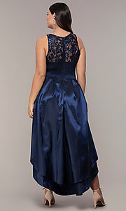 Image of high-low sequin-bodice plus-size prom dress by Simply. Style: MCR-SD-2853 Back Image