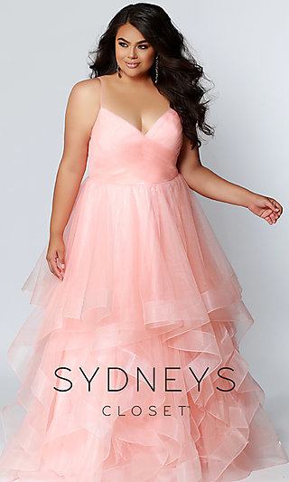 Ball Gown-Style Plus Sydney's Closet Prom Dress