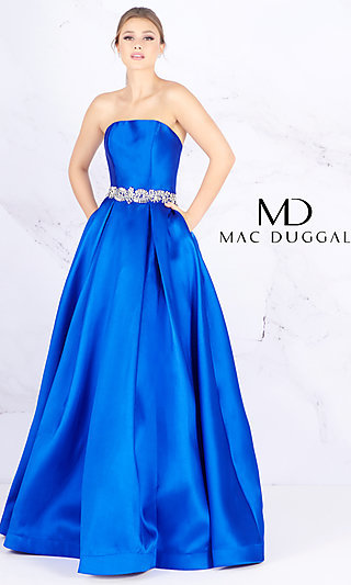 Ball Gown-Style Designer Prom Dress by Mac Duggal