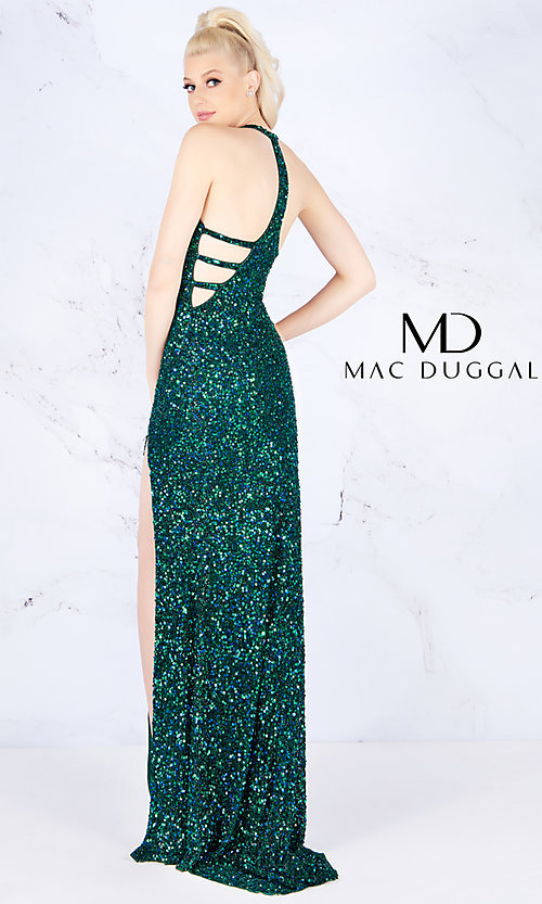 20d611a41cc Long Sequined Flash by Mac Duggal Prom Dress