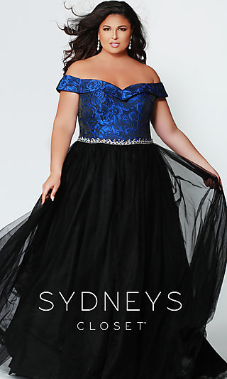 Ball Gown-Style Plus Prom Dress by Sydney's Closet