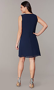 Image of short wedding-guest shift dress with jacket. Style: IT-9170367 Detail Image 2