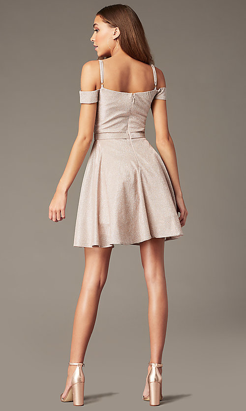 Image of beaded-bodice sparkly short homecoming party dress. Style: SOI-W18780 Back Image