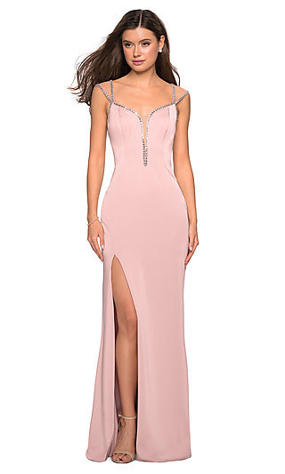 855a37bea75 Sweetheart Prom Dress with Illusion Cap Sleeves